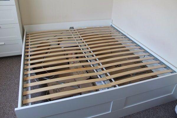 IKEA Brimnes Bed, Slats & Mattress