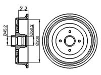 PAIR REAR BRAKE DRUMS VW CADDY UP TO 1992