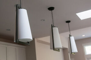 Three Modern Pendent Lights