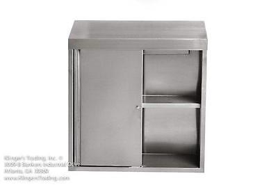 15x48 Stainless Steel Commercial Wall Mount Storage Cabinet With Sliding Doors