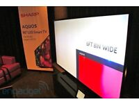 """Sharp 90"""" LCD TV for sale"""