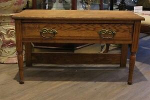 Re-purposed Oak Bench at Ibon Antiques
