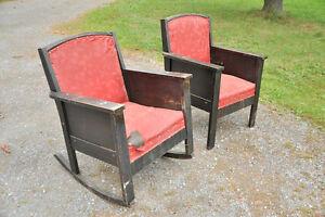 2 fauteuil de style mission, 1920