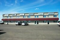 For lease warehouse bays with retail store front/yard space