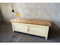 Large 7ft Vintage Reclaimed Cupboard Unit Wood Sideboard Rustic Cabinet Solid