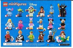 Lego Disney Minifigures For Sale Complete Set of 18 or Singles
