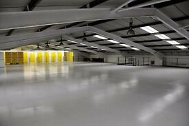 Large industrial warehouse size storage space