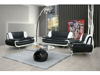 *BRAND NEW* Retro design palmerro sofas / 3+2 seater set or corner sofa in a choice of 4 colours