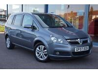2007 VAUXHALL ZAFIRA 1.8i Design LEATHER, 16 inch alloys, 7 seats and air con