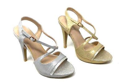 Gold Heels (✅Damen Pumps Elegant High Heels Party Sylvester Gold / Silber Gr.36-41)