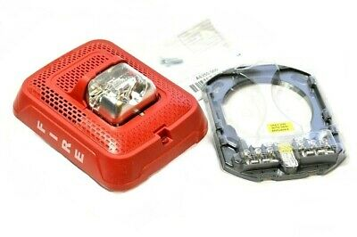 System Sensor Indoor Wall Mount Fire Alarm Speaker Strobe Red Spsrl