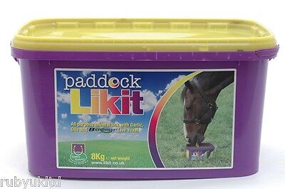 Likit Paddock Horse Treat Equestrian Mineral Lick Block 8kg Field and Stable