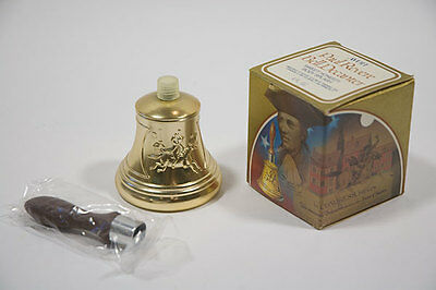 VINTAGE1979 AVON PAUL REVERE BELL DECANTER SWEET HONESTY BODY SPLASH BOTTLE BOX