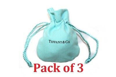Tiffany And Company Jewellery - [x3] Tiffany & Co. Cloth Suede Drawstring Travel Mini Jewelry Pouch Gift Bag