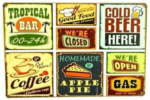 8 x 12 inch- Kitchen/Cafe/Bar Wall Art- Metal Sign Sarnia Sarnia Area image 1