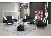 Brand new /Black/white, black/red, brown/cream or full black sofa sets and corner suites