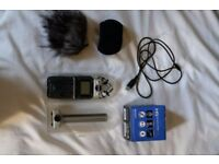 ZOOM H5 Audio Recorder with SHOTGUN MODULE, REMOTE, WINDSHIELD, CASE, AC ADAPTER