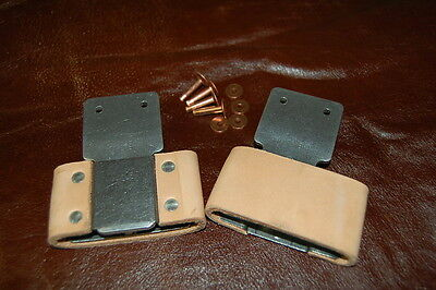 """2.5""""~Blevins Buckle Pair~Vertical Complete with Rivets & Burrs FREE SHIPPING USA"""