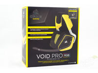 New in Box Corsair VOID PRO RGB Wireless Gaming Headset