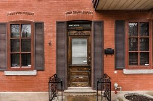 Gorgeous, main floor, 2 bedroom apt, along the Lachine canal