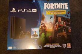 Brand New PS4 Pro 1tb Fortnite Bundle
