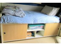 Single IKEA bed with storage - Dismantled and in good condition, free mattress available