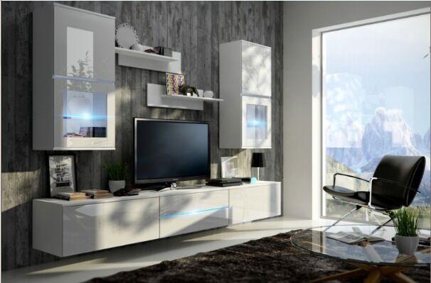 LIVING ROOM SET TV UNIT DISPLAY CABINET LED