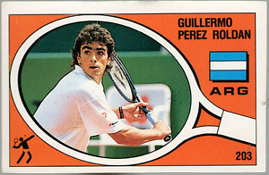 Perez-Roldan-Argentina-Tennis-Supersport-1988-Edizioni-Panini-MINT-n-203