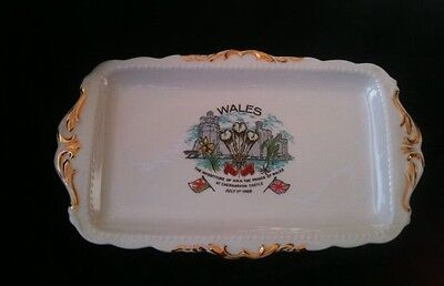 Rectangular china plate commemorating the investiture of the Prince of  Wales