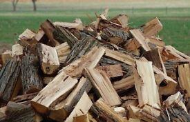 Fire wood logs for sale per trailer load