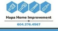 Home Renovations and Handyman Repairs www.hapahome.ca