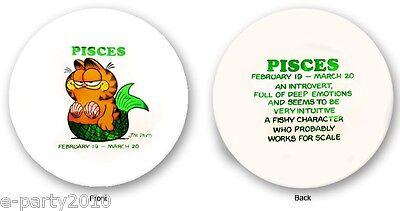 GARFIELD Pisces MYLAR BALLOON ~ Birthday Party Supplies Decorations Horoscope