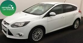 £133.85 PER MONTH WHITE 2012 FORD FOCUS 1.6 ZETEC 5 DOOR DIESEL MANUAL