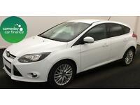 £155.10 PER MONTH WHITE 2012 FORD FOCUS 1.6 ZETEC 5 DOOR DIESEL MANUAL