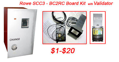 Rowe Bc2rcscc3 Bill Changer Kit With Validator - Mei 1-20