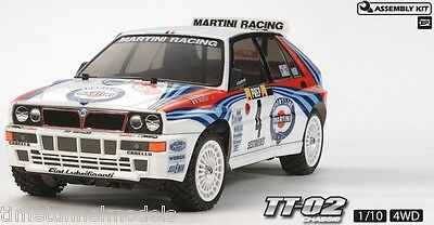 Tamiya 58570 Lancia Delta Integrale 4WD TT-02 RC Kit Car *WITH* Tamiya ESC Unit