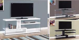 "$299 - TV STAND – 60""L / GLOSSY WHITE / GREY / CAPPUCCINO"
