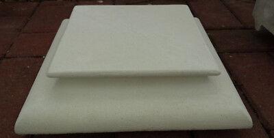 Fuß & Abdeckplatte für Pfeiler 40,5 cm [BAD-7653] Tor & Zaunspfeiler, Steinguss