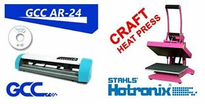 "GCC AR 24"" VINYL CUTTER + Floor stand + Hotronix Craft Heat Pres"