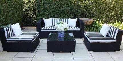 WICKER LOUNGE SETTING,5 CONFIGURATIONS,BRAND NEW,EUROPEAN STYLING