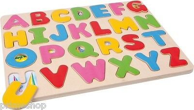 "Puzzle ""Buchstabenzuordnung"" ABC aus Holz ca. 30 x 24 x 1 cm Neu"