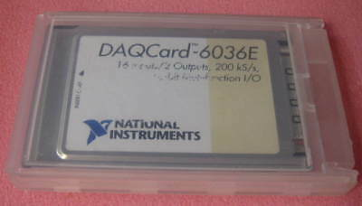 Ni Daqcard-6036e 16-bit Multifunction Io National Instruments Pcmcia 1 Each