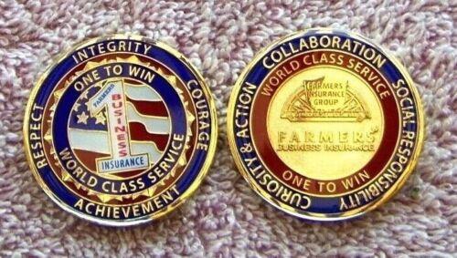 1  Farmers Insurance Group  Award  COIN  -  ONE TO WIN WORLD CLASS SERVICE