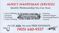 Mike's Handyman  &  Home Improvement Services ***905-640-9557