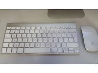 Apple Bluetooth Wireless Aluminum Magic Keyboard (A1314) and Magic Mouse (A1296) Imac Ipad macbook