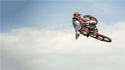 "MOTOCROSS DIRT BIKE JUMP SPORT PHOTO ART PRINT POSTER 24""x13"" 010"