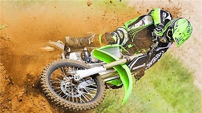 "MOTOCROSS DIRT BIKE JUMP SPORT PHOTO ART PRINT POSTER 24""x13"" 015"
