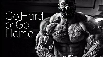 Man Bodybuilding Motivational Male Fitness Gym Quotes Poster 24 X13  008