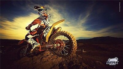"MOTOCROSS DIRT BIKE JUMP SPORT PHOTO ART PRINT POSTER 24""x13"" 039"