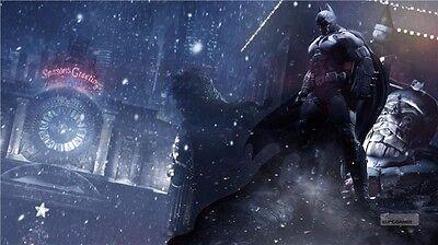 Batman Arkham Origins City Asylum The Joker Harley Quinn Game Poster 42 X24  005
